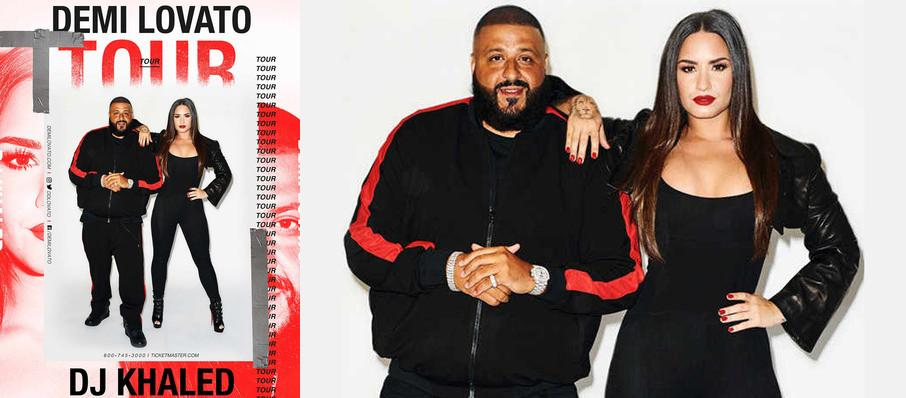 Demi Lovato and DJ Khaled at Centre Bell