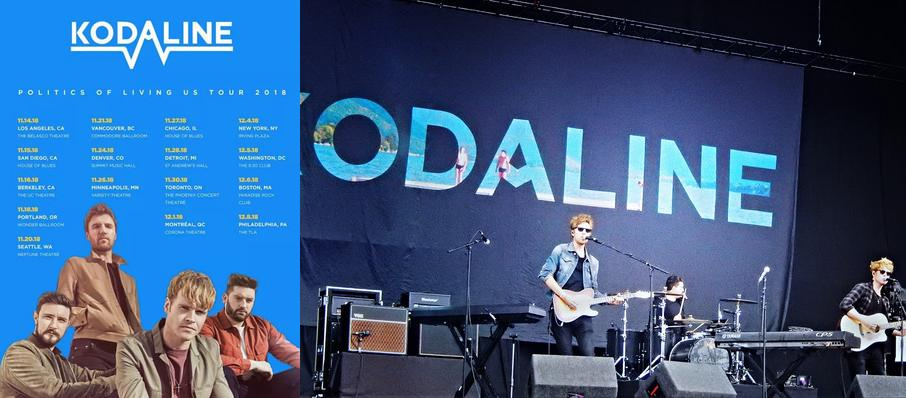 Kodaline at Corona Theatre