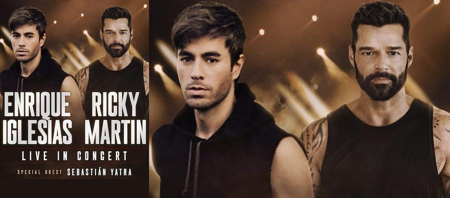Enrique Iglesias and Ricky Martin at Centre Bell
