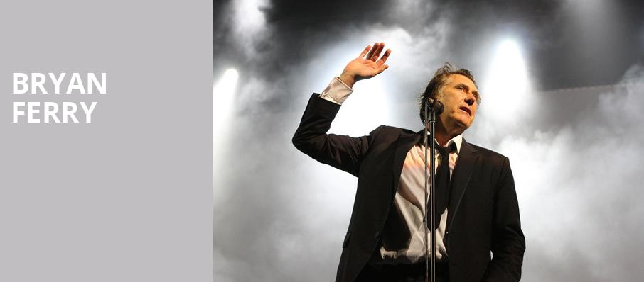 Bryan Ferry, Theatre St Denis, Montreal