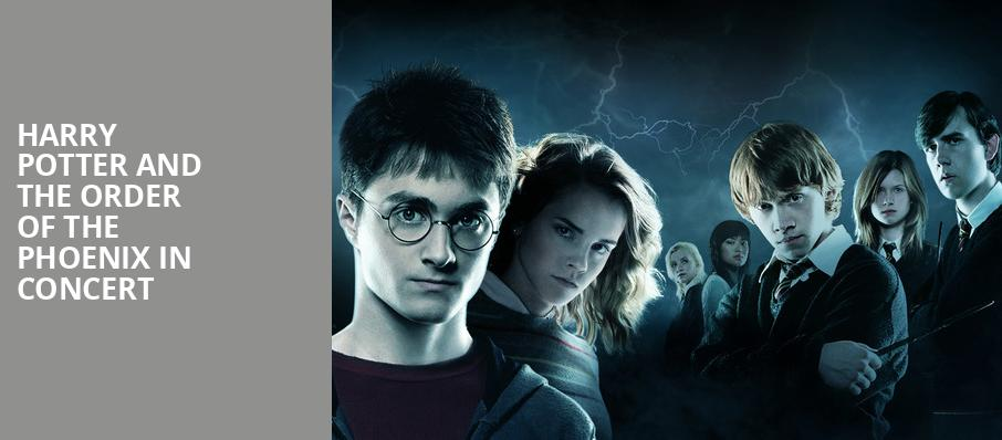 Harry Potter and the Order of the Phoenix in Concert, Salle Wilfrid Pelletier, Montreal